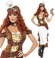 Steampunk Wild West Agent Temptress - Adult Costume Fancy Dress