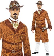 Steampunk Wild West Agent - Adult Costume Fancy Dress