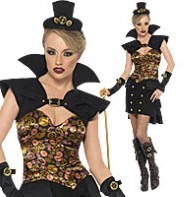Steampunk Sexy Vampiress - Adult Costume Fancy Dress