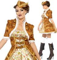 Steampunk Sexy Pirate - Adult Costume Fancy Dress