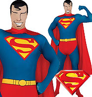 Second Skin Superman - Adult Costume Fancy Dress