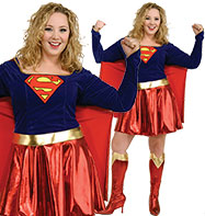 Supergirl Plus - Adult Costume Fancy Dress