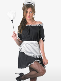 French Maid - Adult Costume Fancy Dress