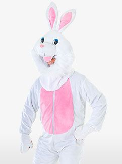 Big Head Rabbit - Adult Costume Fancy Dress