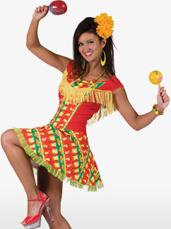 Mexican Lady Dress - Adult Costume Fancy Dress