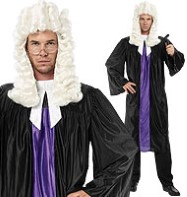 Judge Gown - Adult Costume Fancy Dress