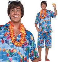 Hawaiian Man Plus - Adult Costume Fancy Dress