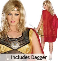 Golden Gladiator Plus - Adult Costume Fancy Dress