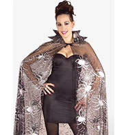 Spider Web Cape - Adult Costume Fancy Dress
