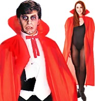 Dracula Cape Red - Adult Costume Fancy Dress