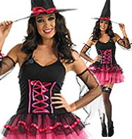 Pink Tutu Witch - Adult Costume Fancy Dress