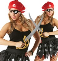 Pirate Tutu Kit - Adult Costume Fancy Dress