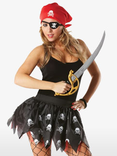 Adult Pirate Tutu Kit