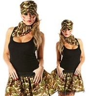 Army Tutu Kit - Adult Costume Fancy Dress