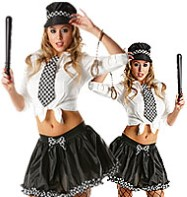 Police Tutu Kit - Adult Costume Fancy Dress