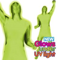 Morphsuit Glow Green - Adult Costume Fancy Dress