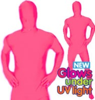 Morphsuit Glow Pink - Adult Costume Fancy Dress