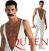 Freddie Mercury White Jumpsuit - Adult Costume Fancy Dress