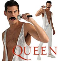 Freddie Mercury Silver Sequin Jumpsuit - Adult Costume Fancy Dress