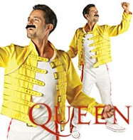 Freddie Mercury Wembley 86' Yellow Suit - Adult Costume Fancy Dress