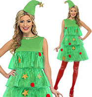 Christmas Tree Tutu - Adult Costume Fancy Dress