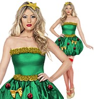 Christmas Tree Festive - Adult Costume Fancy Dress