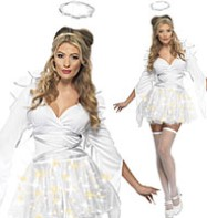 Angel Light Up - Adult Costume Fancy Dress