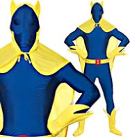 Second Skin Bananaman - Adult Costume Fancy Dress