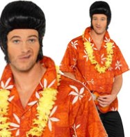 Elvis Hawaiian Shirt - Adult Costume Fancy Dress