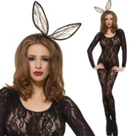 Bodysuit Black Lace - Adult costume Fancy Dress