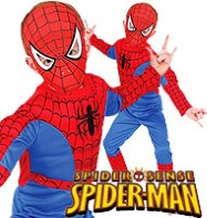 Spiderman Deluxe - Toddler Costume Fancy Dress