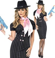 Gangster Moll Costume - Adult Costume Fancy Dress