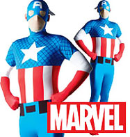2nd Skin Captain America - Adult Costume Fancy Dress