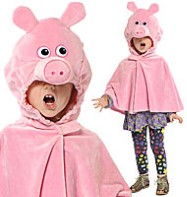 Pig Cape - Child Costume Fancy Dress