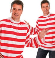 Striped Shirt Red/White - Adult Costume Fancy Dress