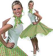 Rock'n'Roll Skirt Light green - Adult Costume Fancy Dress