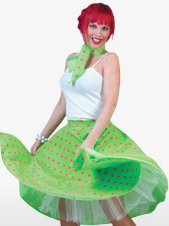 Rock'n'Roll Skirt Light green - Adult Costume