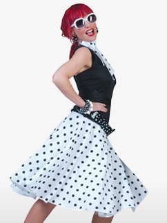 Rock'n'Roll Skirt White - Adult Costume