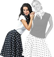 Rock'n'Roll Skirt Black - Adult Costume Fancy Dress