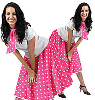 Rock'n'Roll Skirt Pink - Adult Costume Fancy Dress