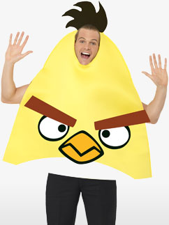Angry Birds Yellow Costume - Adult Costume Fancy Dress