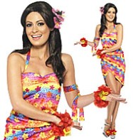 Hawaiian Party Girl - Adult Costume Fancy Dress