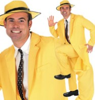 80's yellow Suit - Adult Costume Fancy Dress