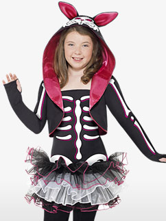 Skelly Rabbit - Child Costume Fancy Dress