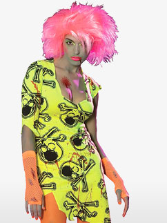 Neon Rave Zombie Fancy Dress