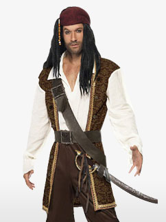High Seas Pirate - Adult Costume Fancy Dress