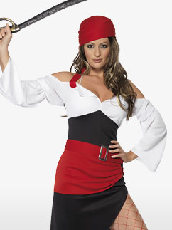 Sassy Pirate Wench - Adult Costume Fancy Dress