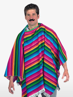 Mexican Serape - Adult Costume Fancy Dress