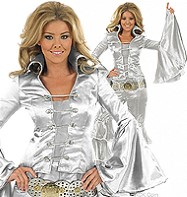 Silver Dancing Queen - Adult Costume Fancy Dress