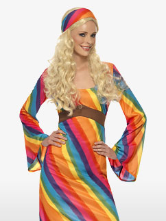 Rainbow Hippie - Adult Costume Fancy Dress